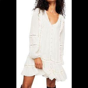 Free People Snow Angel Ruffled Dress
